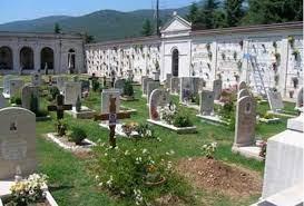 cimitero, lapidi, loculi