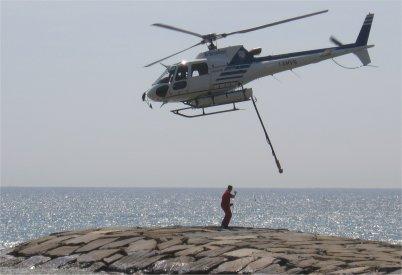 Elicottero in partenza
