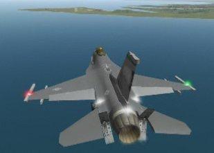 F16 in atterraggio - landing