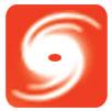 la catarsi di un logo di uragano