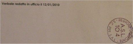 verbale Asl del 12-01-2010
